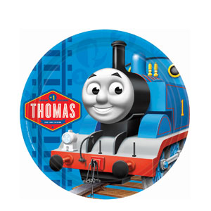 Thomas and Friends 9 Inch Plates- 8ct
