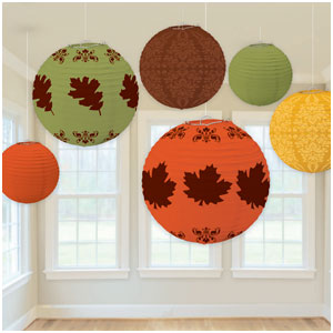 Fall Paper Lanterns- 6ct