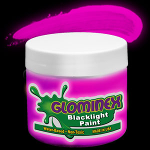 Glominex™ Blacklight UV Reactive Paint 8 oz Jar - Pink