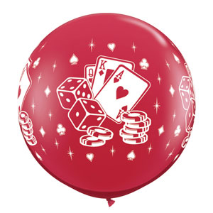 Casino Card and Dice Balloon - 3ft
