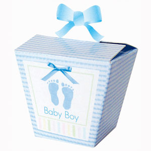 Favor Boxes - Baby Soft Blue