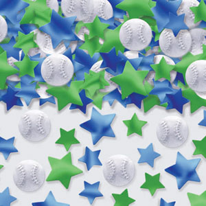 Baseball Metallic Confetti