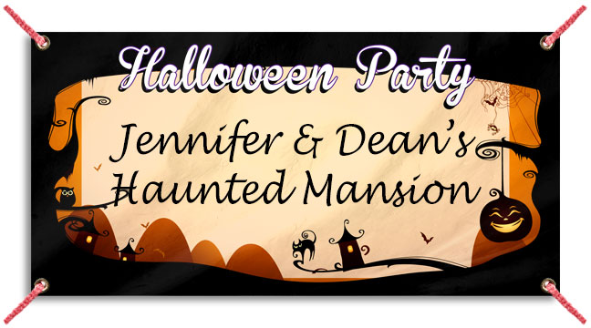 Purple Halloween Party - Custom Banner