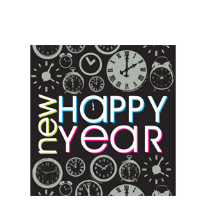 New Year Countdown Plastic Tablecover