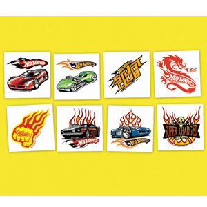 Hot Wheels Tattoos- 24ct