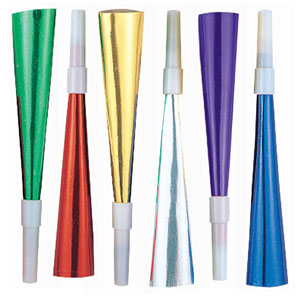 Multicolor Foil Horns- 24ct