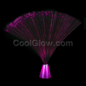 LED 9 Inch Fiber Optic Centerpiece - Pink