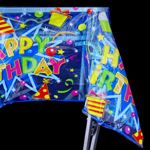 Happy Birthday Plastic Tablecover