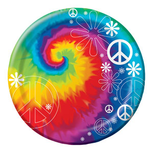 Tie Dye 9 Inch Plates- 8ct