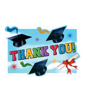 Grad Spirit Postcard Thank You Cards- 20ct