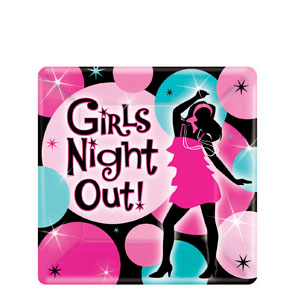 Girls' Night Out 7 Inch Plates- 8ct