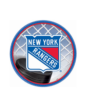 New York Rangers 7 Inch Plates- 8ct