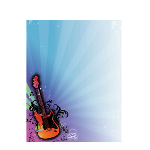 Rock Star Laser Sheet Invitations- 25ct
