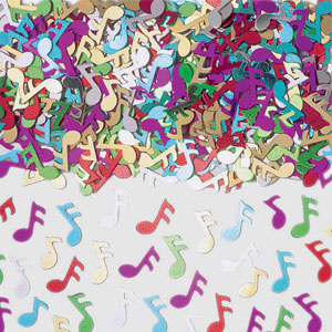Music Notes Metallic Confetti- Assorted