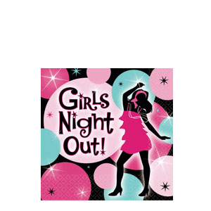 Girls' Night Out Beverage Napkins- 16ct
