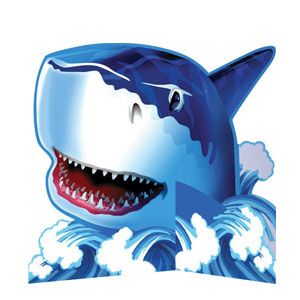 Shark Splash Diecut Stand-Up Centerpiece