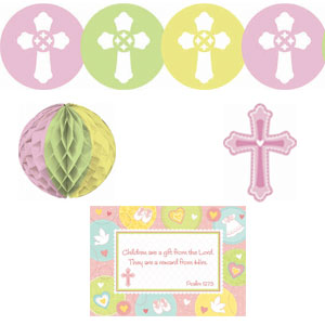 Sweet Christening Pink Decorating Kit- 10pc
