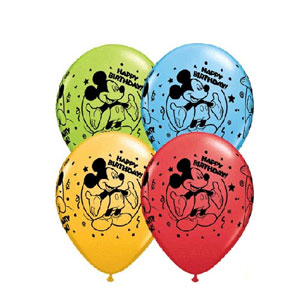 Mickey Happy Birthday Balloons - 25ct