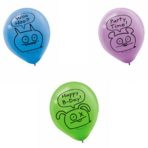 Ugly Doll Printed Latex Balloons- 6ct