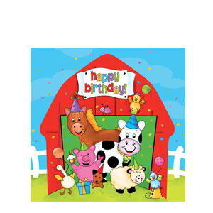 Barnyard Bash Happy Birthday Luncheon Napkins- 16ct