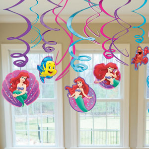 Disney Little Mermaid Swirls- 12ct