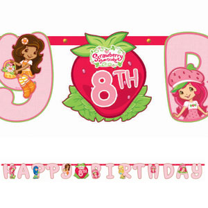 Strawberry Shortcake Add-An-Age Letter Banner- 10ft