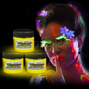 Glominex Glow Body Paint 1 oz Jar - Yellow
