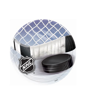 NHL Ice Time 7 Inch Plates- 8ct