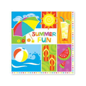 Summer Fun Luncheon Napkins
