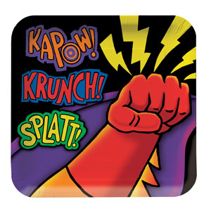 Superhero Fun Dinner Plates - 8ct
