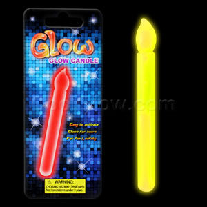 Glow Candle 6 inch - Yellow