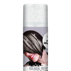 Glitter Color Hair Spray- Silver