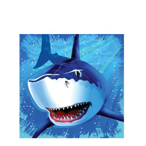 Shark Splash Luncheon Napkins- 16ct