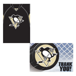 Pittsburgh Penguins Invitation and Thank You Card Set- 16ct