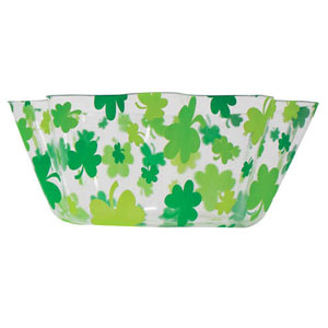 Shamrocks Clear Fluted Bowl
