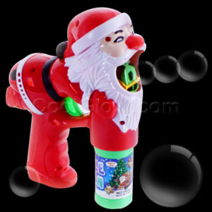 LED Santa Bubble Gun
