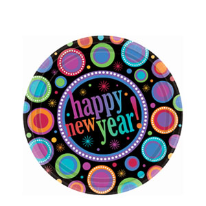 Modern New Years 7 Inch Plates