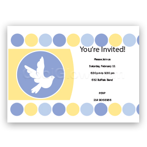 Blue Doves - Custom Invitations