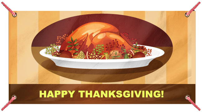 Turkey Dinner - Custom Banner
