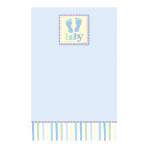 Baby Blue Printable Invitation - 25ct