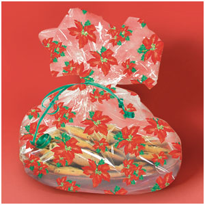 Holiday Bloom Cookie Bags- 6ct