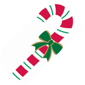 Candy Cane Cutout- 27 Inch