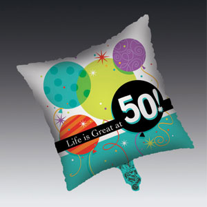 Life is Great at 50 Balloon - Metallic