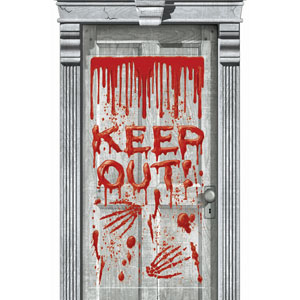 Bloody Keep Out Door Decoration 65 in.