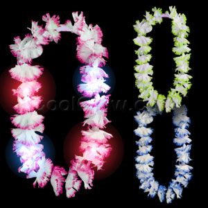 LED Silk Flower Leis - Assorted