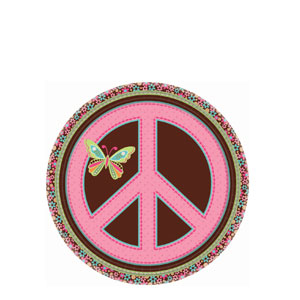 Hippie Chick 7 Inch Plates- 8ct
