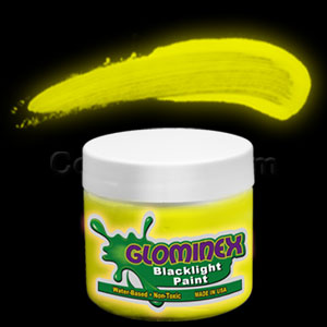 Glominex Blacklight UV Reactive Paint 2 oz Jar - Yellow