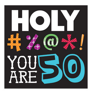 Holy Bleep You're 50 Beverage Napkins - 16ct