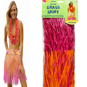 Adult Two-Tone Hula Skirt- Warm