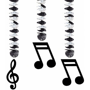 Music Notes Dangling Cutouts- 30in